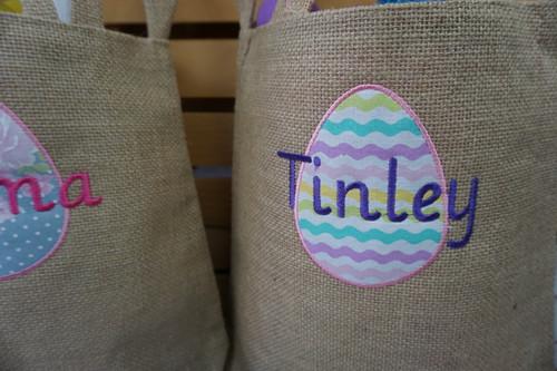 Burlap Bunny Easter Bag