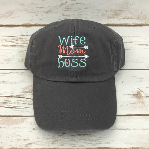 Wife Mom Boss Baseball hat