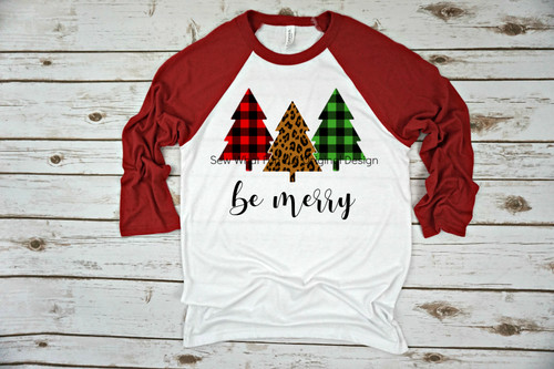 Be Merry Raglan Red