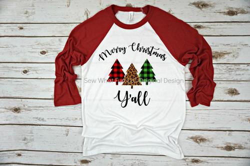 Merry Christmas Y'all Raglan