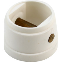Leash Cup Micro Plug White W/ Brass Pin