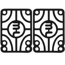 """Mini Logo 1/2"""" Risers Single Set Black Ppp"""