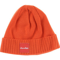Choc Red Square Fold Beanie Org