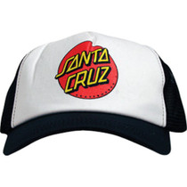 Santa Cruz Classic Dot Mesh Hat Adj-Wht/Blk