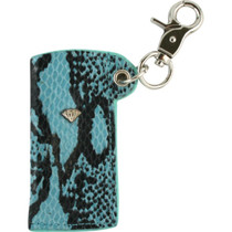 Diamond Snakeskin Lighter Sleeve Blue/Sil  Sale