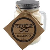 Matunas Soy Candle 16Oz Glass Mug-Bamboo