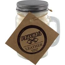 Matunas Soy Candle 16Oz Glass Mug-Leather