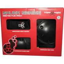 Triple 8 Saver 3/Pk Pads Jr-Black