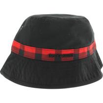 Bones Bearings Swiss Plaid Bucket Hat S/M-Blk/Red