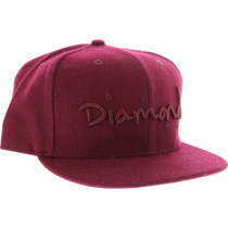 "Diamond Og Script Hat 7-3/4"" Burgundy Sale"