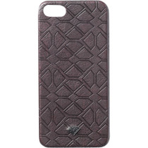 Diamond Split Leather Iphone5 Case Burgundy Sale
