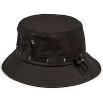 Grizzly Bear Trap Bucket Hat Black