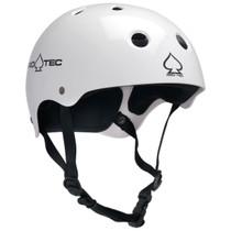 Protec Classic Gloss White-Xs Helmet