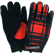 Landyachtz Plaid Slide Gloves Xl-Red/Blk