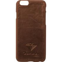 Diamond Iphone-6 Leather Case Brown