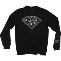 Diamond Dmnd Skulls Crew/Swt S-Black