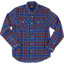 Grizzly Tundra Button-Up Ls L-Blue Plaid