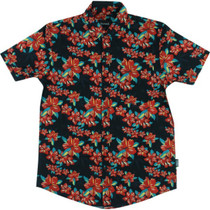 Grizzly Tropical High Button Up Ss M-Black