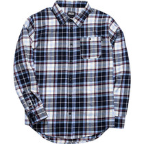 Grizzly Established Button-Up Ls L-Blue Plaid