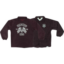 Diamond Usa Coaches Jacket L-Burgundy