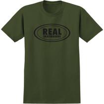 Real Og Oval Ss S-Military Grn/Black