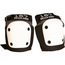 187 Fly Knee Pads L-Grey/Black W/Wht