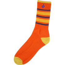 Bro Style Big Stripe Crew Socks-Org 1 Pair