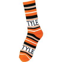 Bro Style Home Team Crew Socks-Org/Blk 1 Pair