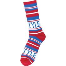 Bro Style Home Team Crew Socks-Red/Blue 1 Pair