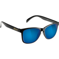 Glassy Deric Blk/Blue Mirror Sunglasses