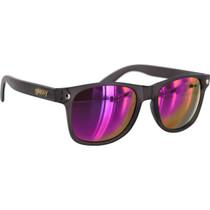 Glassy Leonard Dark Grey/Purple Mirror Sunglasses