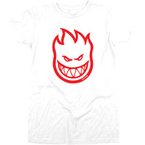 Sf Bighead Girls Ss L-Wht/Red
