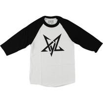 Xyz Pentagram Raglan 3/4 Slv L-Wht/Blk Sale
