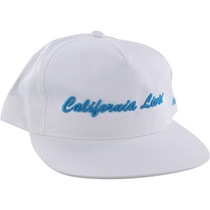 Grizzly California Livin Hat Adj-Wht/Cyan