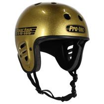 Protec Fullcut Gold Flake-Xl Helmet