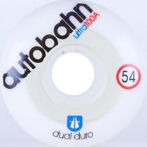 Autobahn Dual Durometer Ultra 54Mm 100A Wht/Clr
