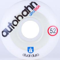 Autobahn Dual Durometer Ultra 52Mm 100A Wht/Clr
