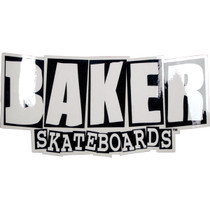 Baker Brand Logo Md Decal Blk/Wht 4X8.5""