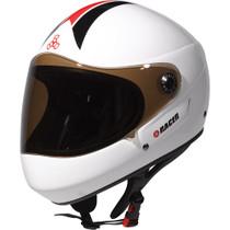 T8 Racer Downhill Helmet S/M-White Cpsc/Atsm