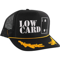 Lowcard Captains Og Logo Mesh Hat Adj-Blk/Wht/Gold