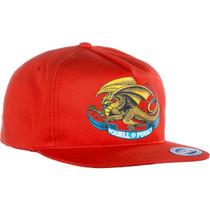 Pwl/P Oval Dragon Hat Adj-Red