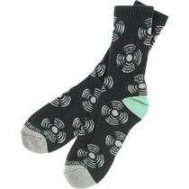 Aw Sonic Crew Socks Charcoal Heather/Grey/Teal 1Pr