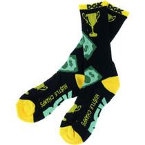 Dgk Hustle Champs Crew Socks Blk/Yel/Grn 1Pair