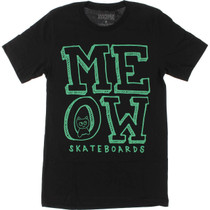 Meow Stacked Logo Ss Xl-Black