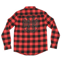 Inde Production L/S Button Up Xl-Red Plaid