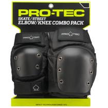 Protec Street Combo 2/Pk M-Black Knee/Elbow