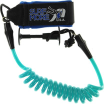 Xm Hawaiian Pro Coil Teal Bodyboard Leash