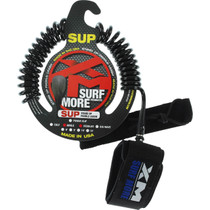 Xm Sup Coiled Regular Ankle Leash 10' Black