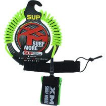 Xm Sup Coiled Regular Ankle Leash 10' Green