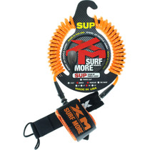 Xm Sup Coiled Regular Ankle Leash 10' Orange